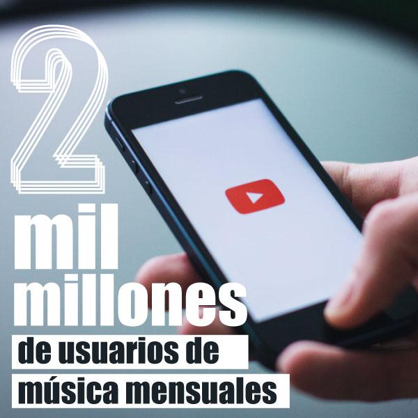 ¿Cómo YouTube llega a 2 mil millones de usuarios de música mensuales?